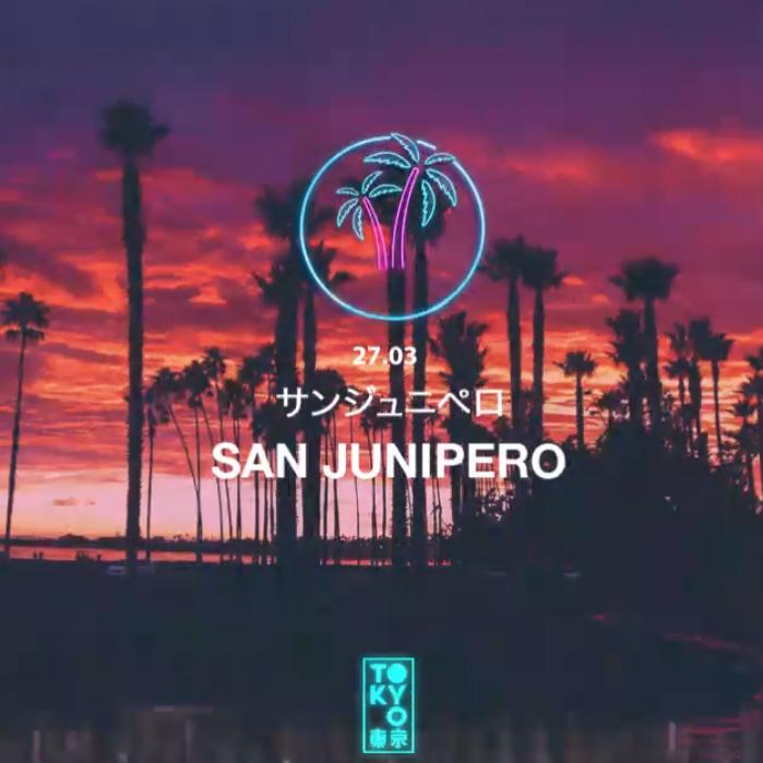 San Junipero 東 京 Anos 80 no Rooftop [Sunset Party | 18h às 23h]